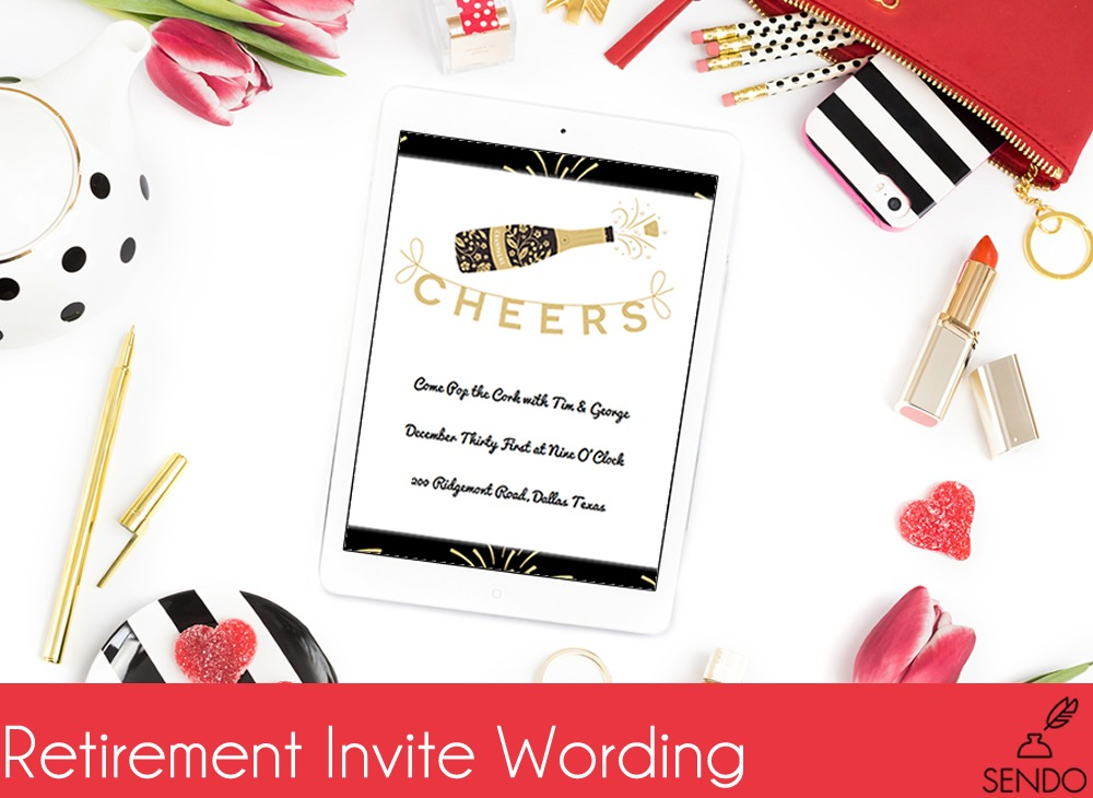 retirement invite wording