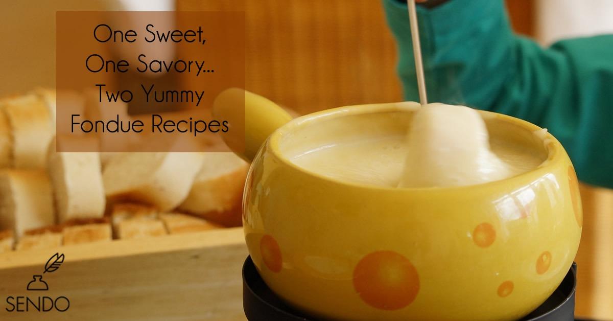 Fondue recipes, chocolate, cheesy