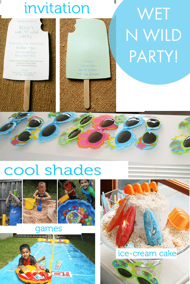 Wet n wild summer fun birthday party theme ideas