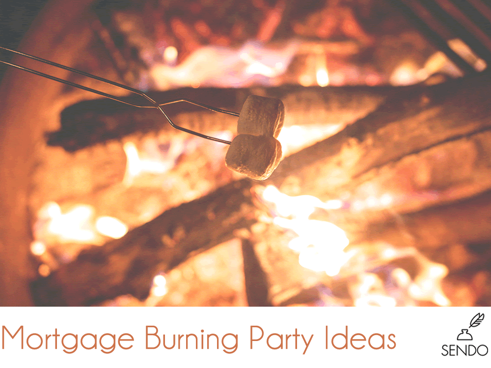 mortgage burning party ideas fire marshmallows