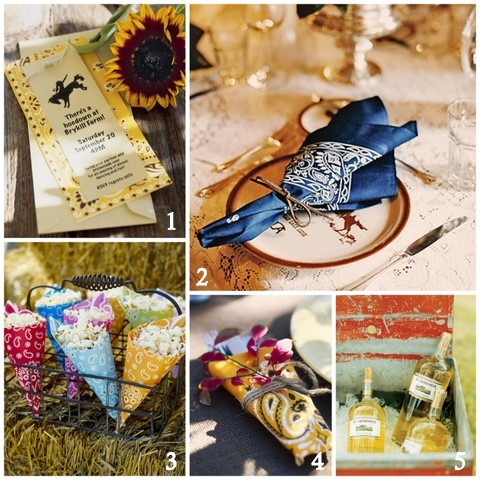 western style fall party ideas napkins drinks favors