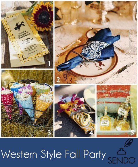 western style fall party inspiration decor design theme