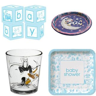 nursery rhyme baby shower theme ideas supplies plates cups cow jumped over the moon