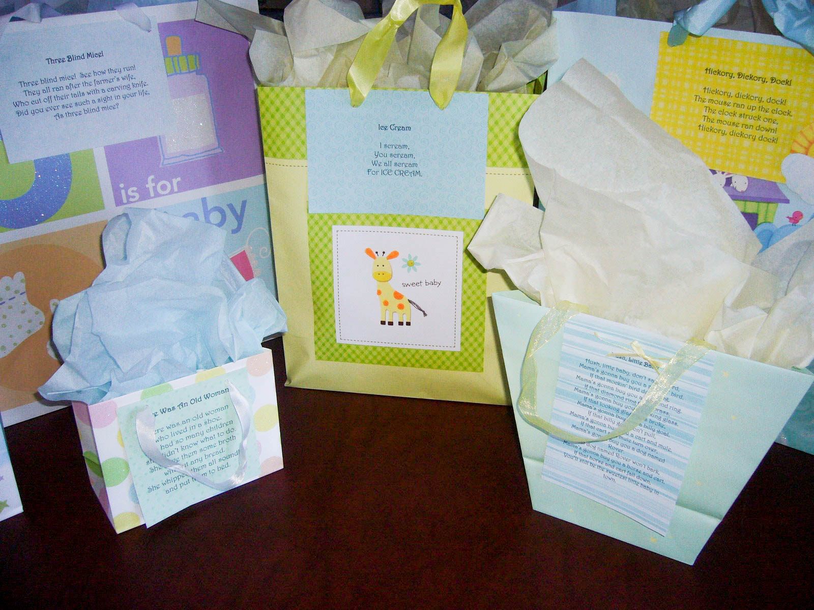 nursery rhyme baby shower theme ideas games