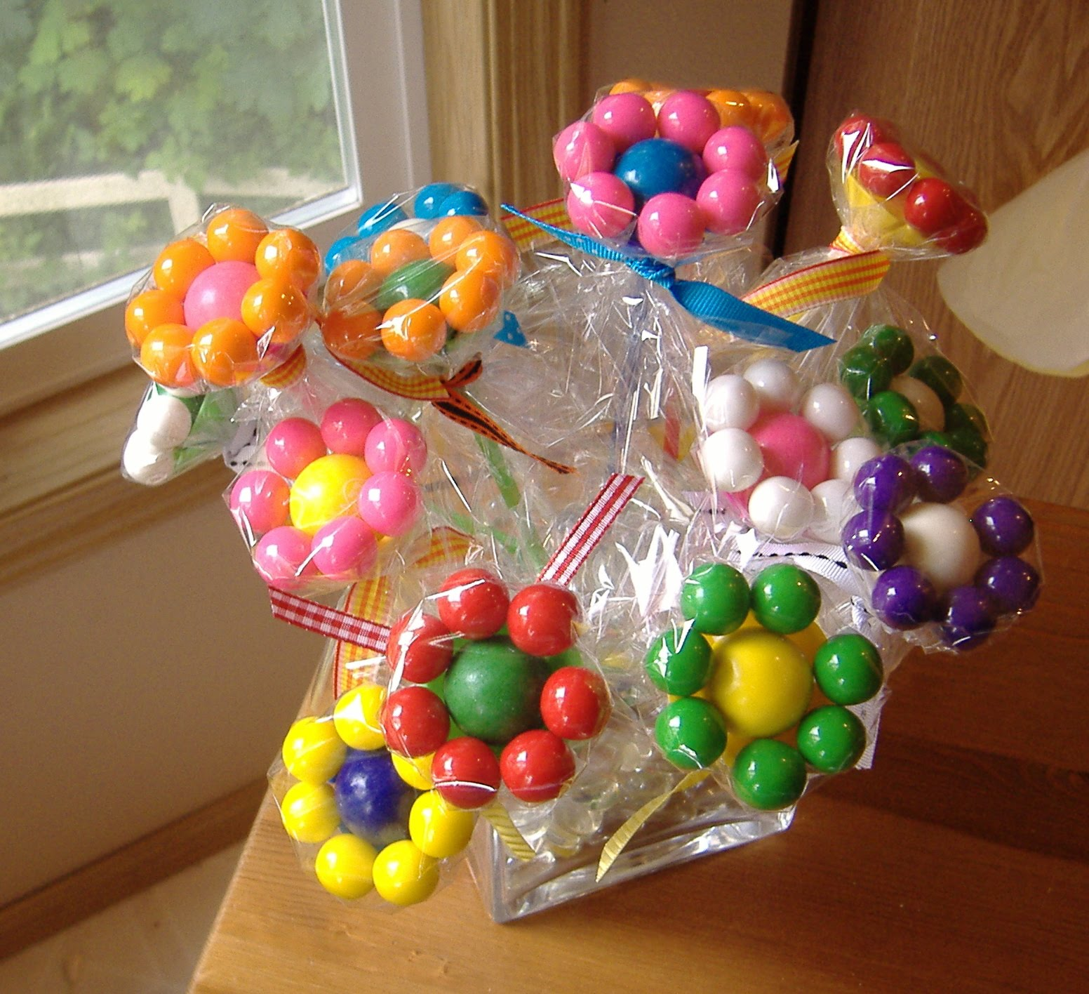 gumball flower bouquet tutorial diy