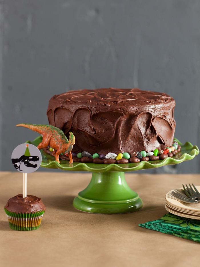 dinosaur party cake for boys birthday chocolate
