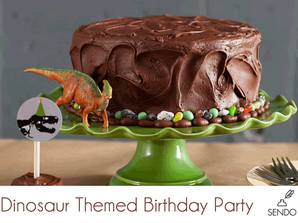 dinosaur party cake for boys birthday chocolate