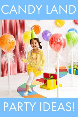 candy land party theme for kids birthdays, school parties and more