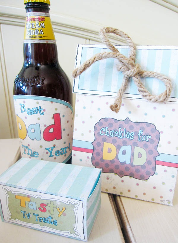 Father's day survival kit homemade DIY gift printables candy treats