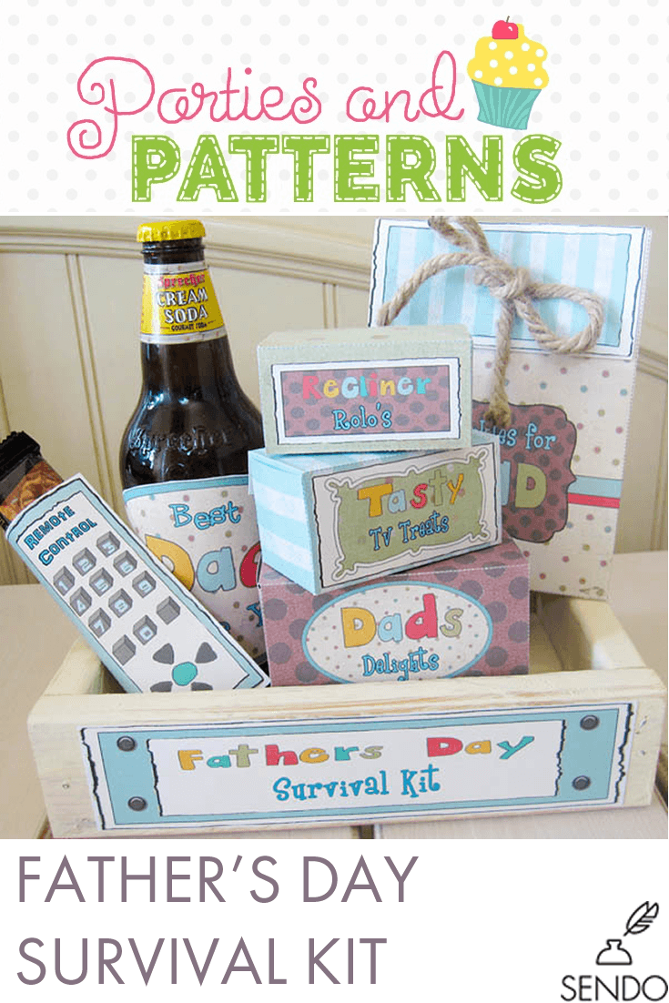 """Homemade Fathers Day Ideas """"Survival Kit"""" 