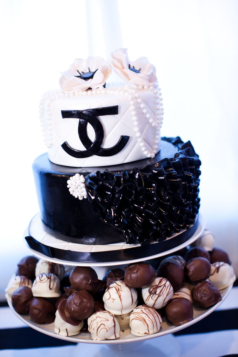 chanel party theme cake birthday