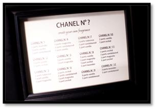 chanel party theme fragrance scent station