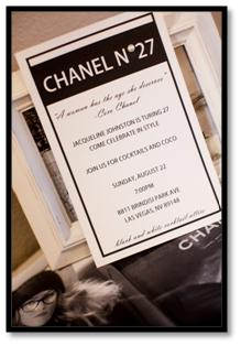 chanel party theme invitation