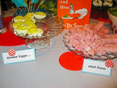 dr seuss birthday party food green eggs and ham