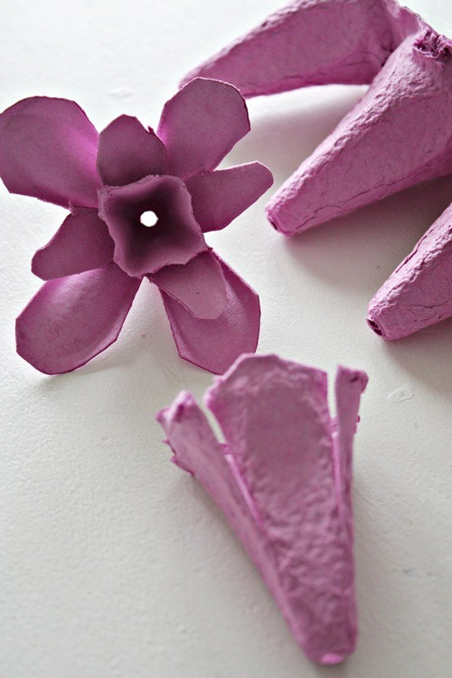 flower fairy lights tutorial pieces of egg carton cut up