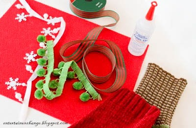 Recycled Sweater Wine Bottle Gift Bags Tutorial DIY materials