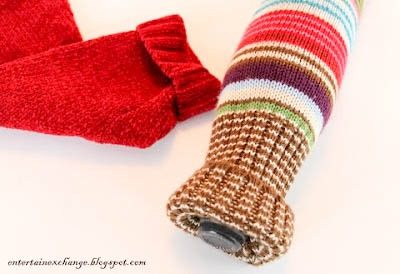Recycled Sweater Wine Bottle Gift Bags Tutorial DIY Upcycle