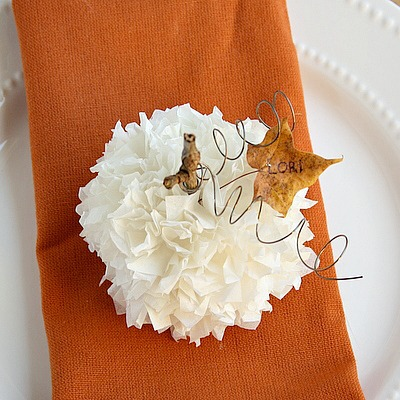 Tissue Paper Thanksgiving Place Card