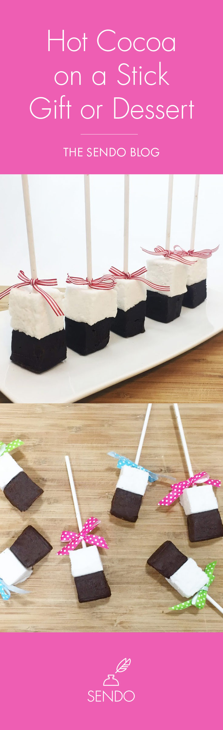 Easy Hot Cocoa on a Stick - Great for gifts and parties!