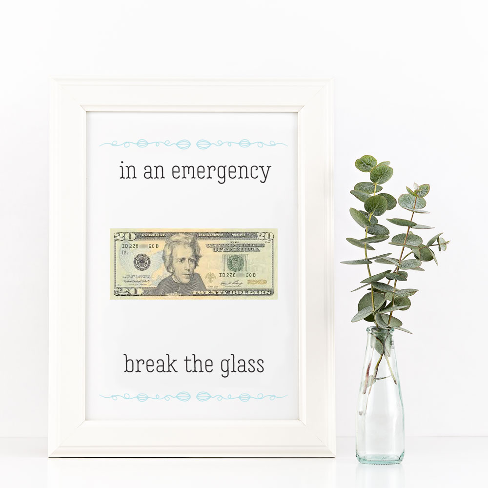 Printable Money Gift