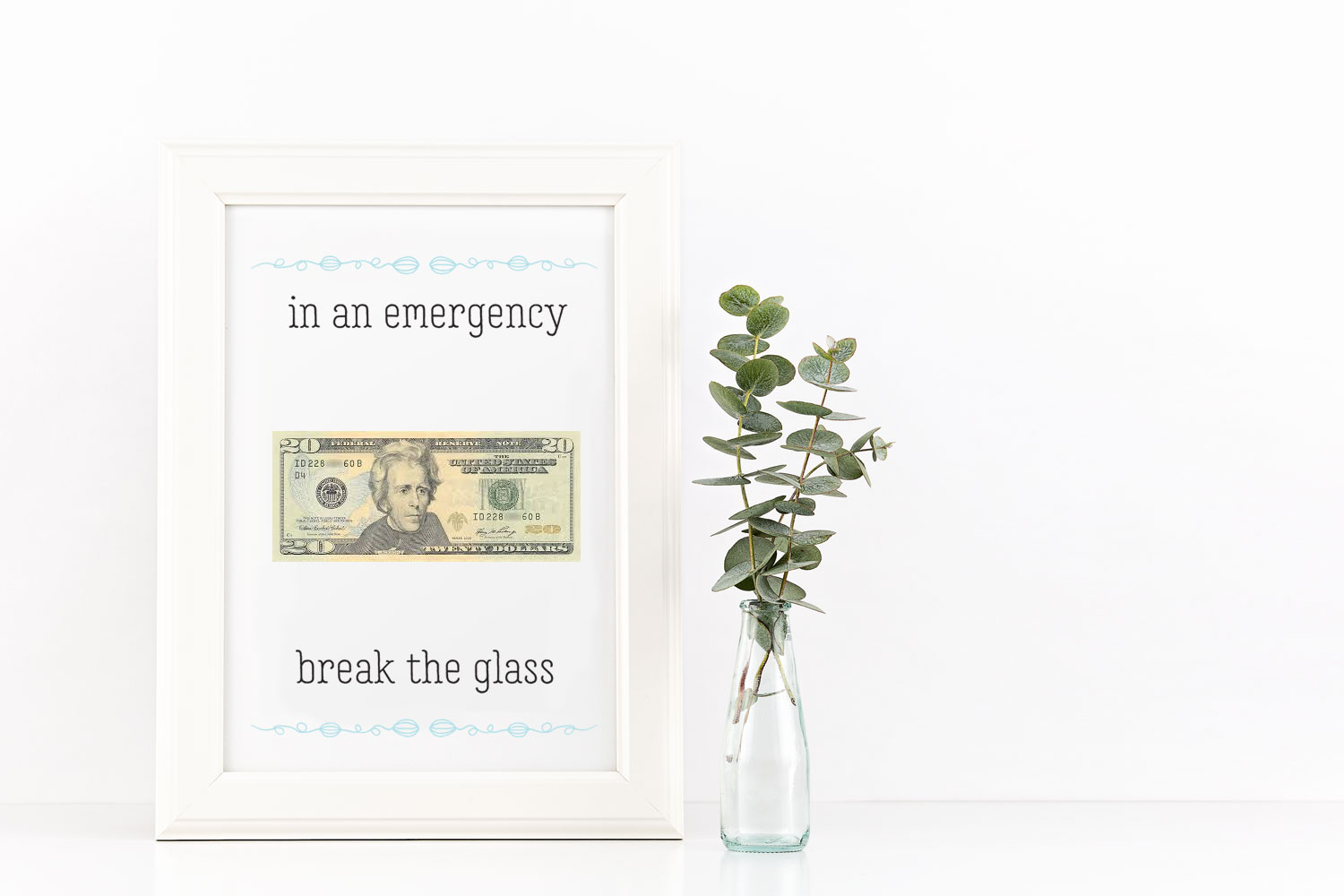In an Emergency Money Gift