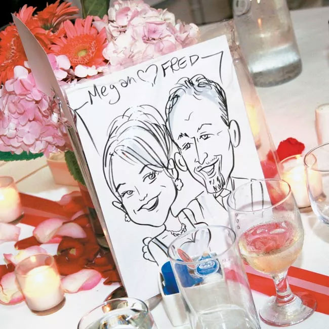 Hire a caricature artist for your wedding cocktail hour  #weddinginspo #weddingideas #wedding #cocktailhour #weddingplanning