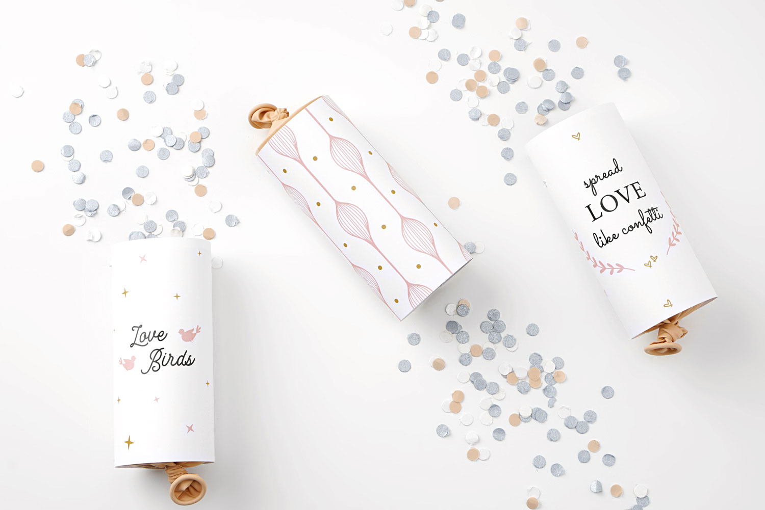 Wedding DIY Confetti Poppers