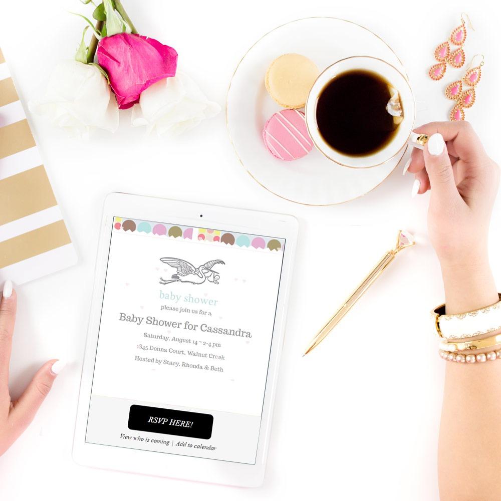 Baby Shower Online Invitations with RSVP #babyshower #invitations