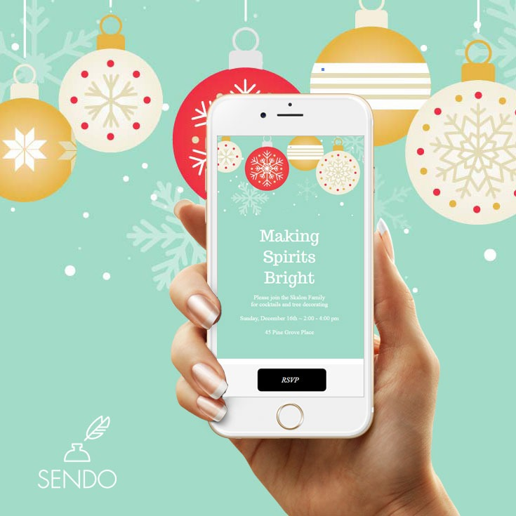Plan the Ultimate Corporate Holiday Party with Easy Invitations from Sendo #holidyparty #corporateholidayparty #christmasparty #invitations