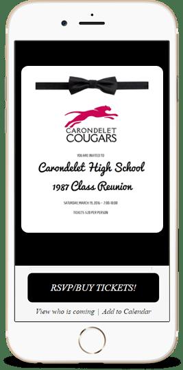 Custom High School Reunion Invitation Design