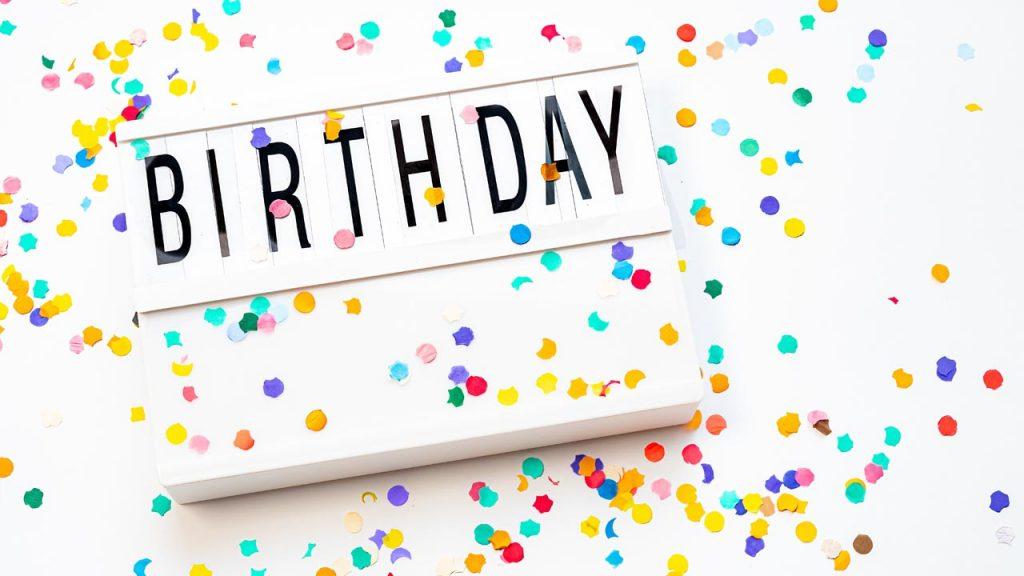 Birthday Confetti Zoom Background  | Sendo Invitations
