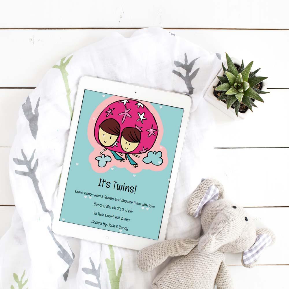How to throw a virtual baby shower | Sendo Invitations #babyshower #babyshowerfun #virtualparties #invitations
