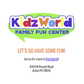 Kidz World Branded Invitation