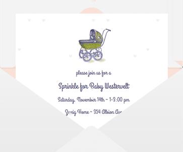 Online Baby Shower Invitations | Sendo
