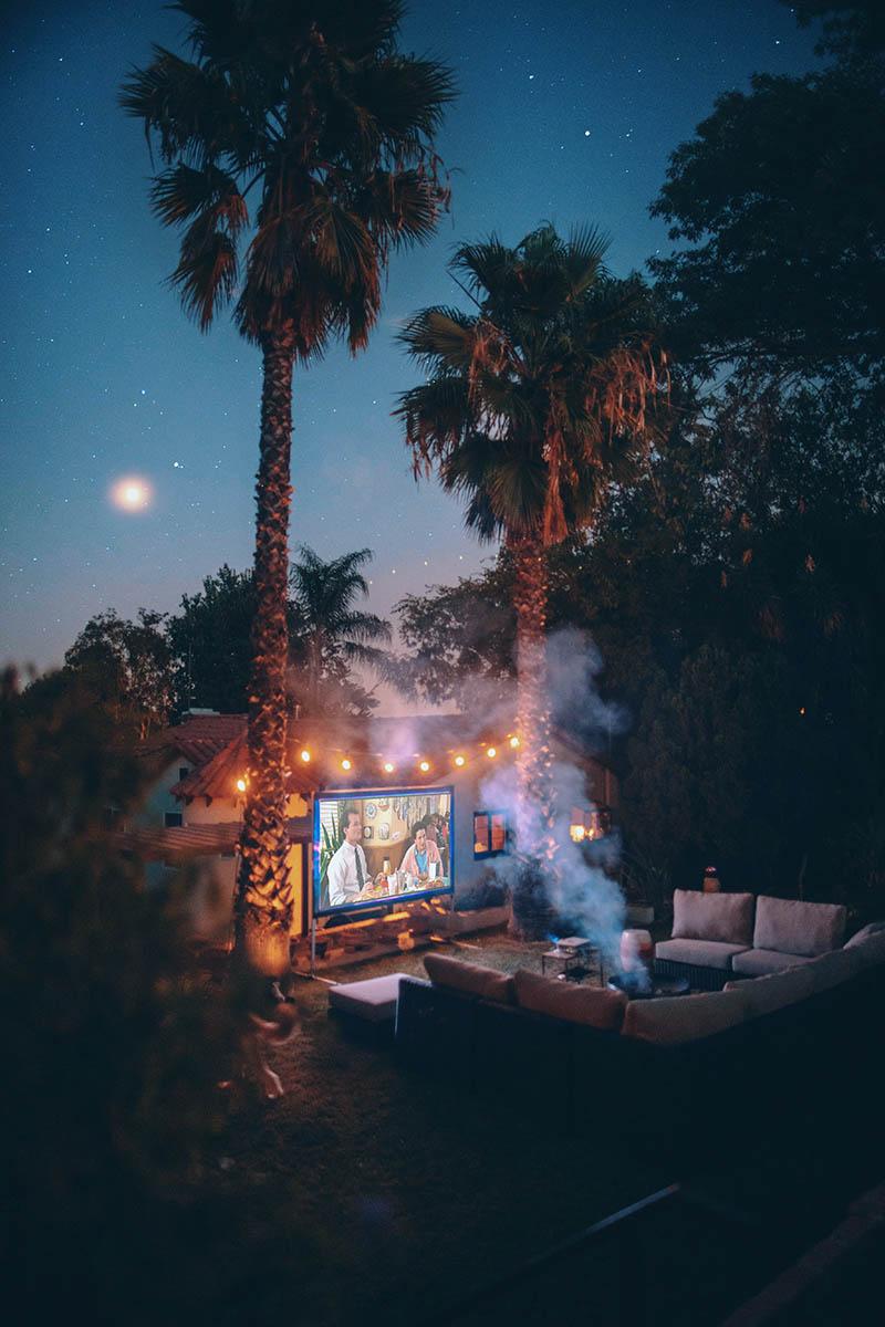 Backyard Bonfire & Movie