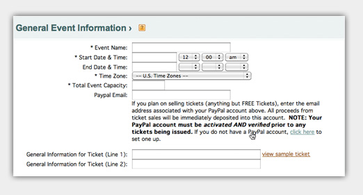 create event tickets free online
