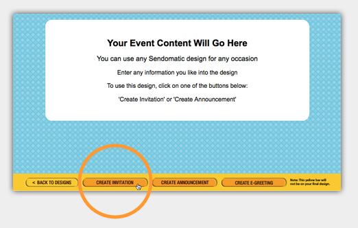 Click Create Invitation