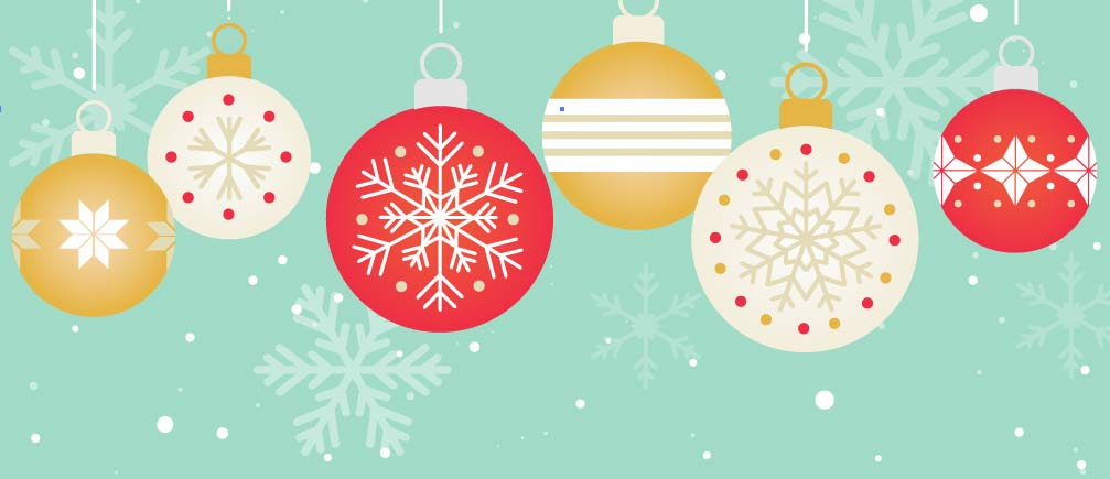 Holiday Ornaments Online Invite