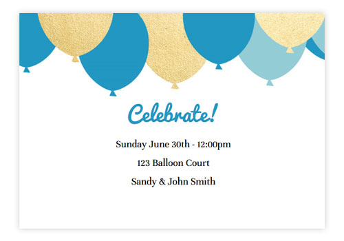 Animated Online Birthday Party Invitations