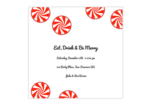 online christmas party invitations with holiday music and animation