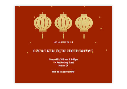 Lunar New Year Invitations