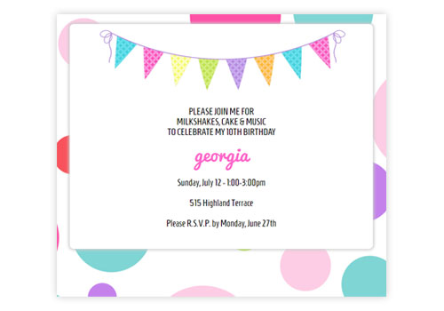 Fun Online Kids Birthday Party Invitations – Online Kids Party Invitations