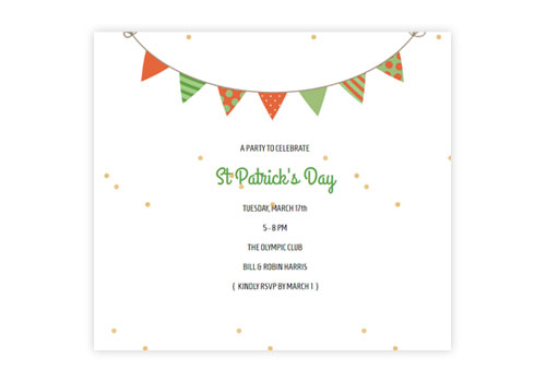 Festive St Patrick S Day Email Invitations