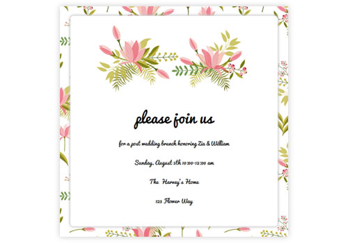 Online wedding invitations for the modern couple sendo for Online wedding shower invitations