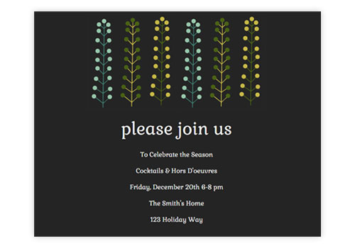 christmas party email invitations