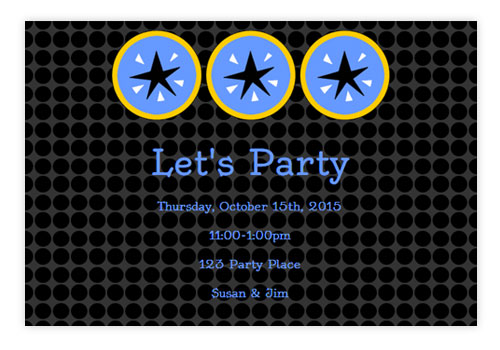 Online Party Invitations With Animation And RSVP