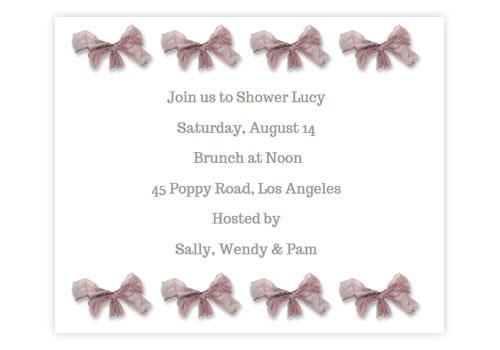 Sendo Invitations
