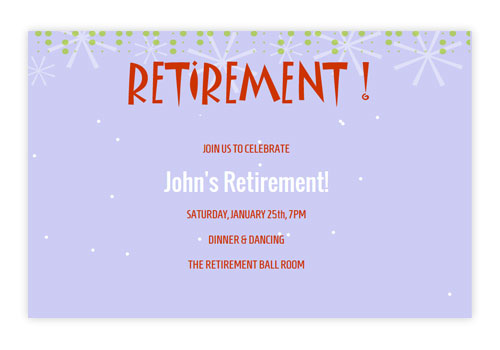 Online Retirement Party Invitations