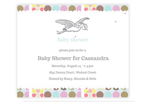 Nursery Rhyme Inspired Baby Shower Invitation