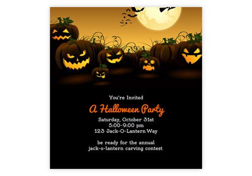 Spooky Animated Online Halloween Invitations